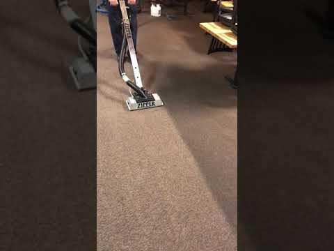Zipper carpet cleaning grimy restaurant carpet