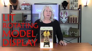 How to Design and Laser Cut a Rotating Display for Miniature Models