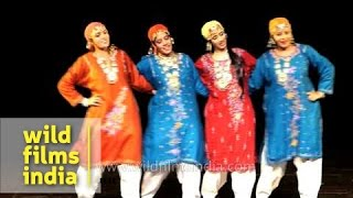 Dhumal dance being performed by Kashmiri artists in Delhi