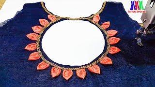 New modal blouse | Petal neck design