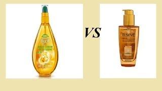 Обзор несмываемых масел для волос:Garnier (масло-элексир преображение) и Loreal Elseve(, 2013-10-30T19:27:55.000Z)