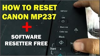 how to reset canon mp237absorber full  free software resetter