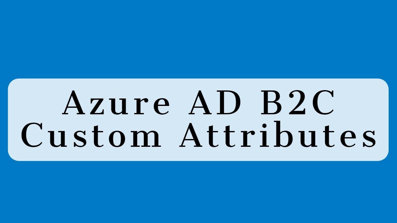 Azure AD B2C - Custom Attributes