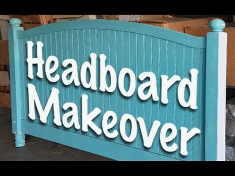 DIY Frugal Headboard Makeover - Headboard Painting - Airbrush Painting a Headboard
