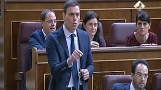 """Sánchez pide a Rajoy que deje de """"esconderse"""" por Gürtel"""