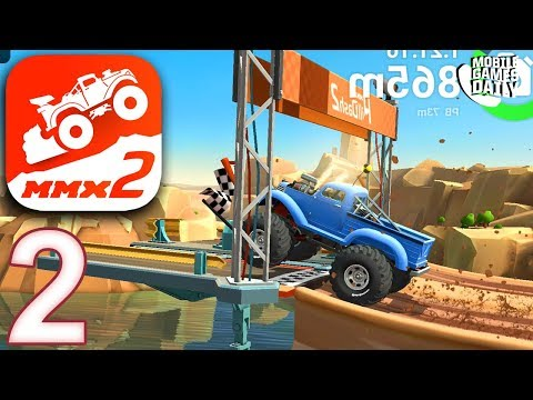 MMX HILL DASH 2 - CANYON Levels 5 6 7 8 9 -  Gameplay Walkthrough Part 2  (iOS Android)
