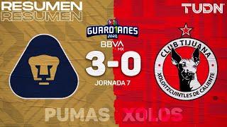 Resumen y goles | Pumas 3-0 Xolos | Guard1anes 2020 Liga BBVA MX - J7 | TUDN