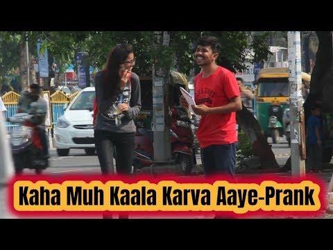 Muh Kaala Karva Aayee - Prank || Best Prank In India || Robin Jindal | Comedy Video | Oye Indori