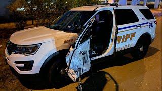 Hit-and-run driver smashes deputy's patrol car