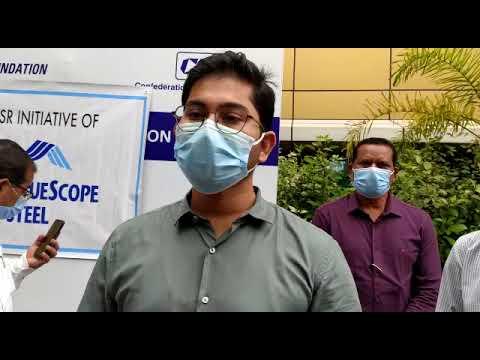 झारखंड जमशेदपुर में सीएसआर के तहत टाटा ब्लू स्कोप कंपनी ने जिला प्रशासन को दिया 10 ईसीजी मशीन