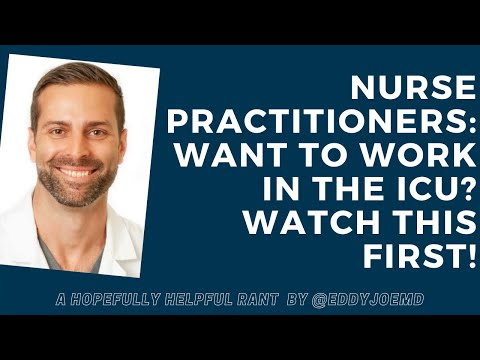 Nurse Practitioners: Want To Work In The ICU? Here's Some Advice.
