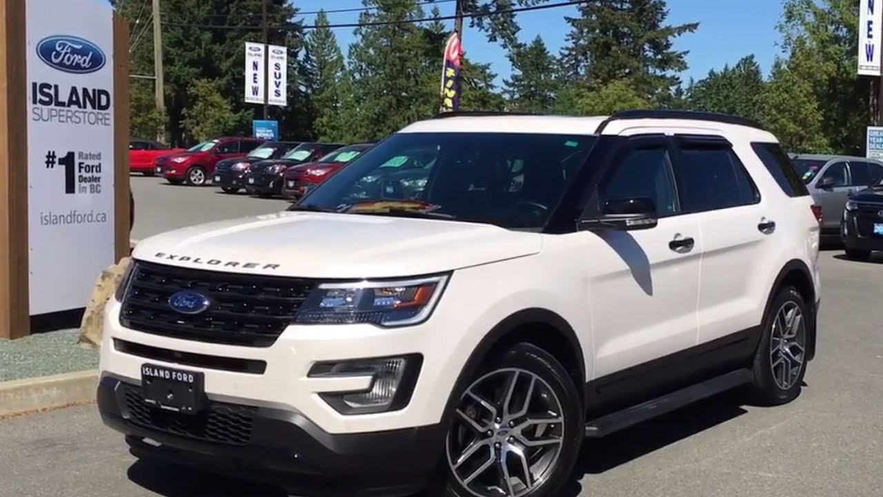 2017 Ford Explorer Sport AWD W/Dual Moonroof + Nav Review |Island Ford - YouTube