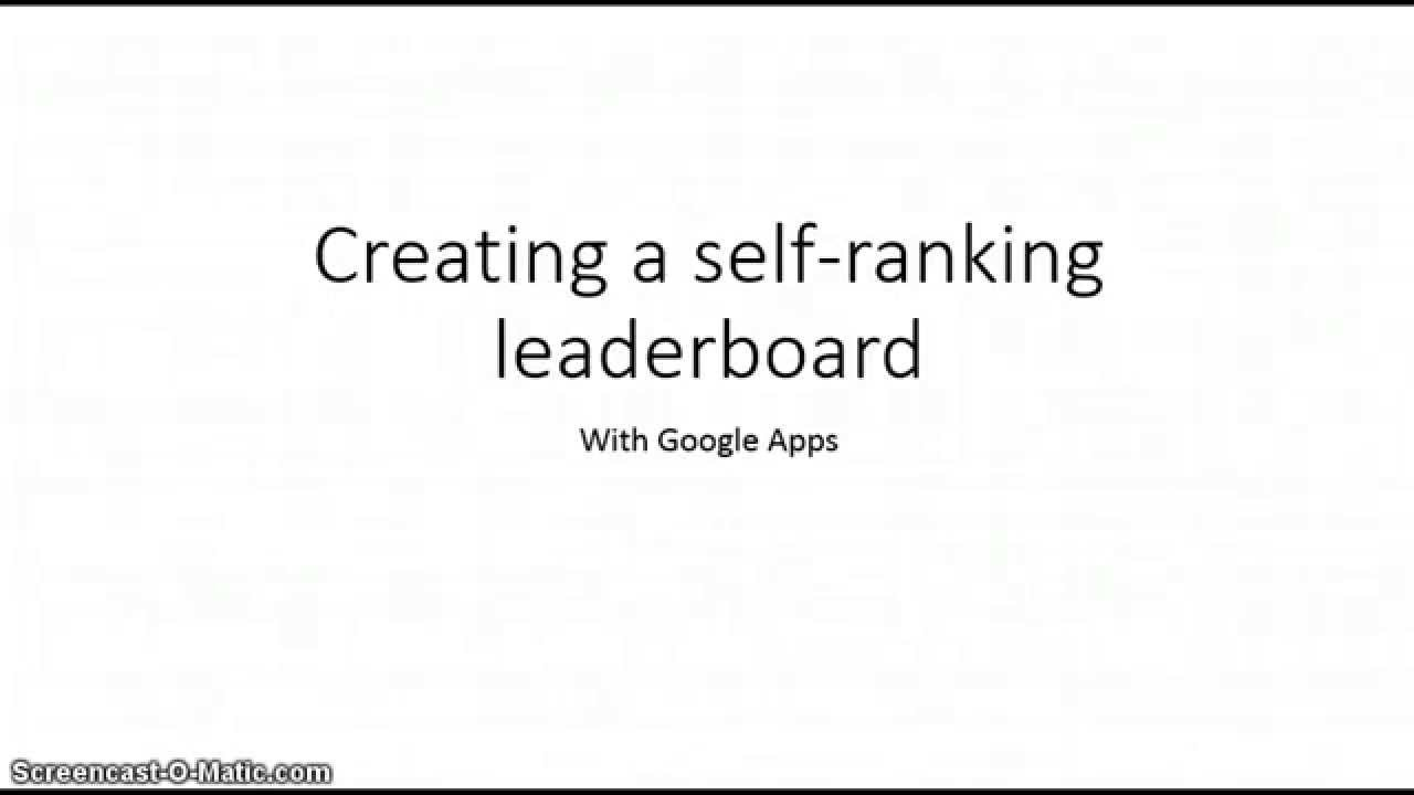 Creating A Self Ranking Leaderboard Youtube Land Rover Discovery Ii Fuse Box Diagram