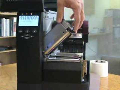 Zebra Zm400 Barcode Printer Printhead Cleaning Youtube