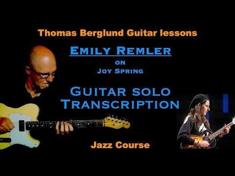 Emily Remler on Joy Spring - Jazz guitar solo transcription