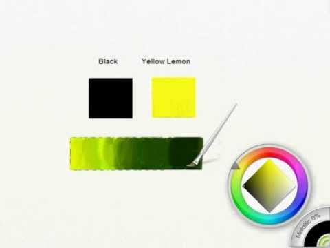 How To Get Olive Green Shades In Artrage Youtube