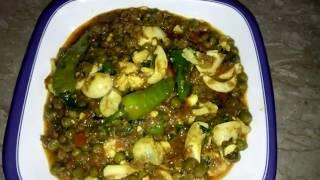 Matar Anday ki sabzi healthy and delicious Recipe By Maria