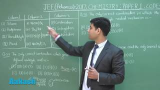 JEE Advanced 2017: Video Solution & Answer Key for Chemistry  (Paper-1) Question 34 to 36
