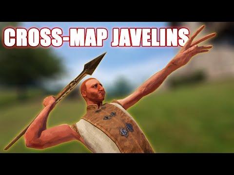 Cross-Map Javelin Throws in Mordhau