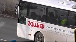 Bus mit Anhänger der Ferienfahrschule Zöllner am Kurt-Schumacher-Damm