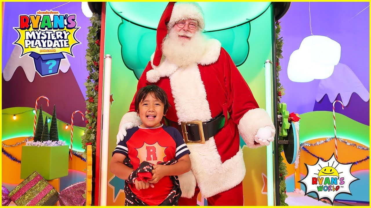 Santa Claus Surprise Ryan on Ryans Mystery playdate Holiday Special Episode!!!!