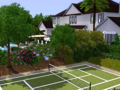 Sims 3 House With Tennis Court Youtube
