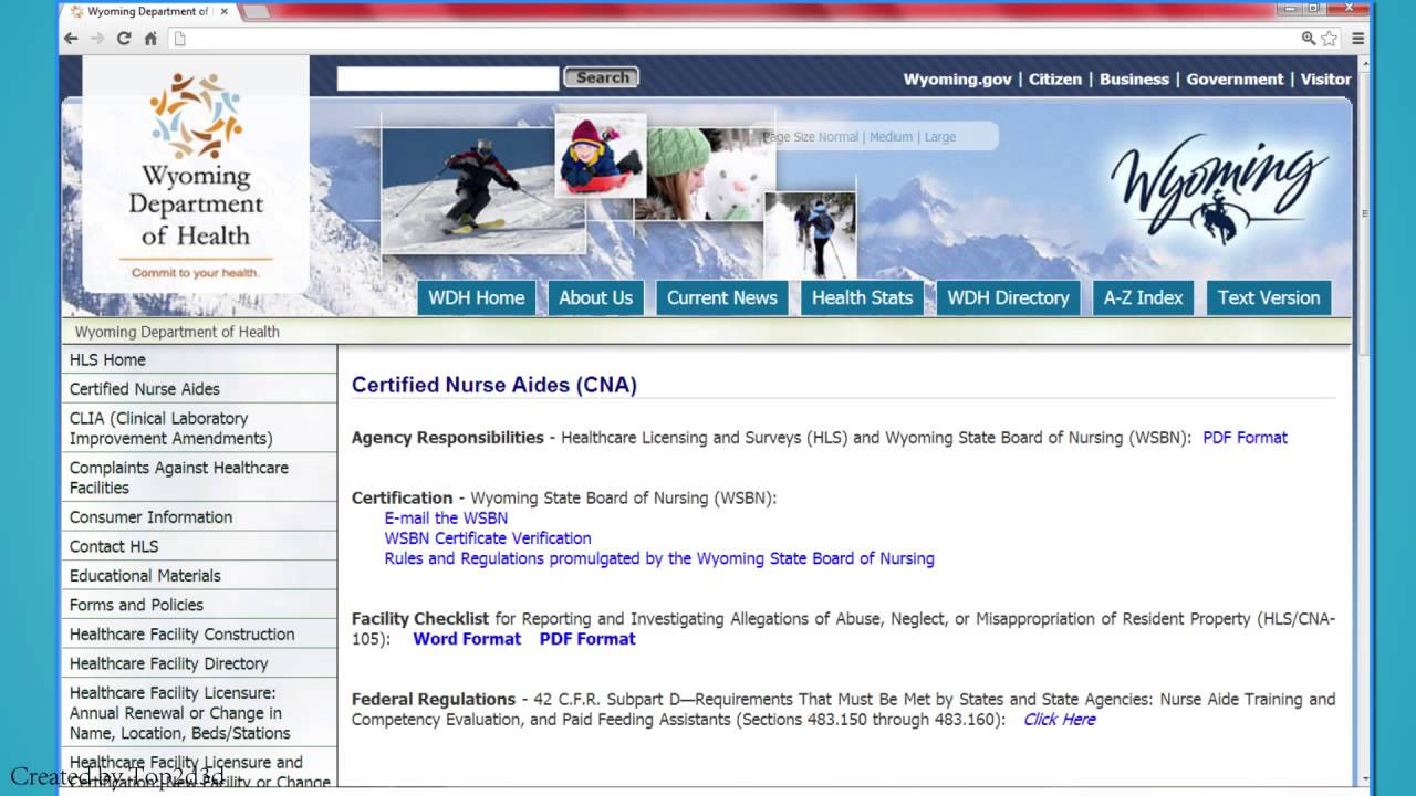 Cna Classes In Wyoming Youtube