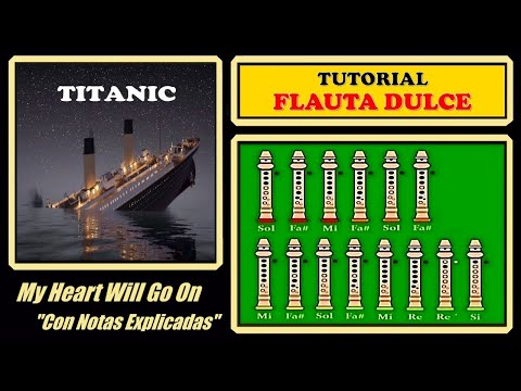 Titanic | My Heart Will Go On | Recorder Notes Tutorial ♪♪♪