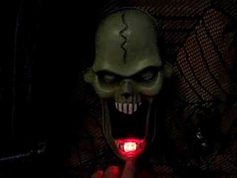 animated talking skull doorbell light sound halloween party prop decoration - Talking Skull Halloween