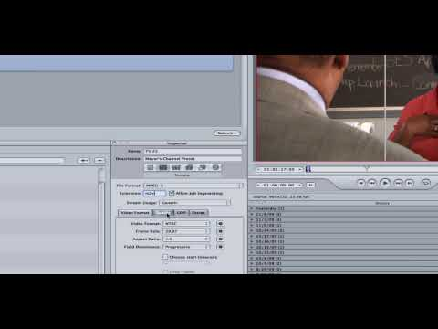 Final Cut Studio Compresssor Tutorial for MPEG-2 for Broadcast Television