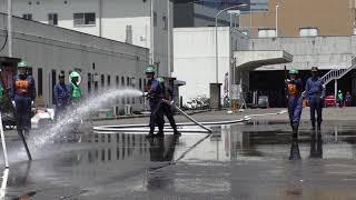 京橋消防団 第二分団 平成30年 ポンプ操法大会