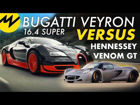 bugatti veyron 16 4 super vs hennessey venom gt youtube. Black Bedroom Furniture Sets. Home Design Ideas