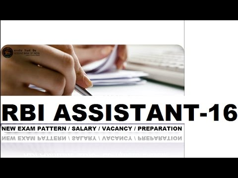 RBI ASSISTANT 2016 || NEW PATTERN | SALARY | VACANCY | SYLLABUS PREPARATION