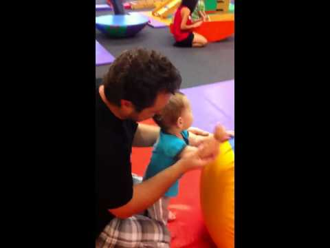 Teddy doing the Freeze song at Gymboree - 9/24/2011