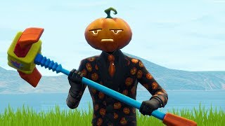 "NEW EPIC SKIN OF THE DEPRESSING ""PUMPKIN""! (Fortnite Battle Royale)"