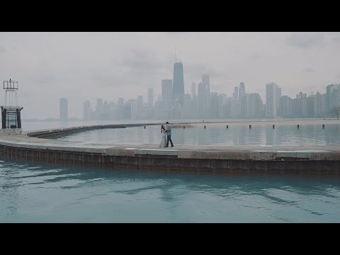 BEAUTIFUL Chicago Engagement Video on Lake Michigan // Mei + Brian