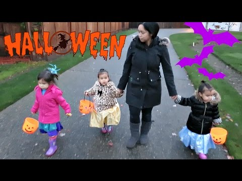 HALLOWEEN TRICK OR TREATING! - October 31, 2016 -  ItsJudysLife Vlogs