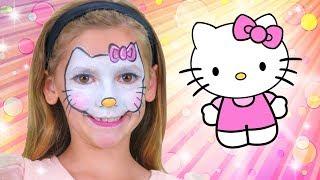 Hello Kitty Face Paint | WigglePop