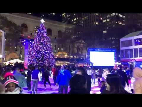 Bryant Park Christmas.Bryant Park Christmas Tree Lighting 2017
