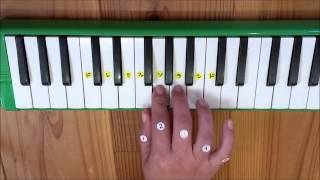 簡単ピアニカ演奏「ドレミの歌」幼児でも弾ける曲☆鍵盤ハーモニカで弾いてみた Do-Re-Mi - Melodica