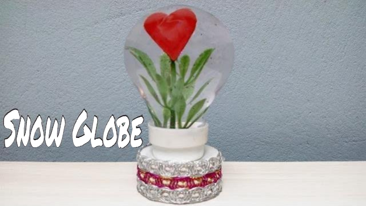 how to make a snow globe with heart inside