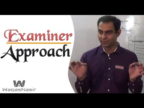 Examiner's Approach -By Qasim Ali Shah | In Urdu