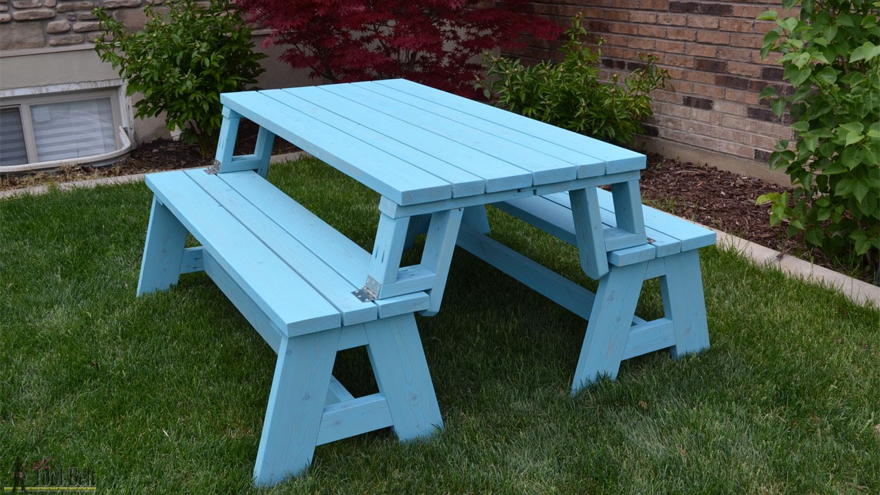 Convertible Picnic Table And Bench Youtube