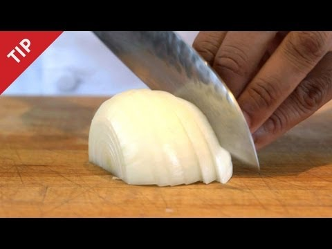 How to Chop an Onion Without Crying - CHOW Tip