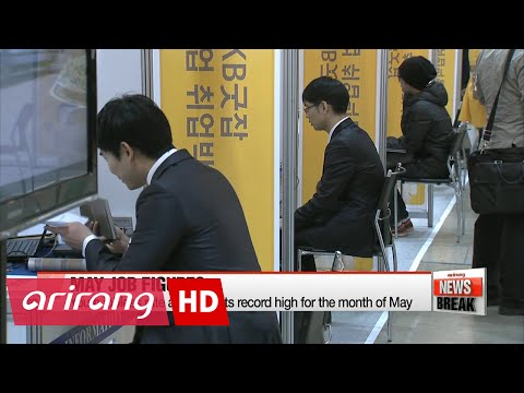 ARIRANG NEWS BREAK 10:00 Youth jobless rate hits record high for the month of May