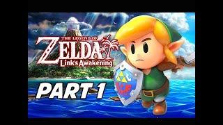 The Legend of Zelda Link's Awakening Walkthrough Gameplay Part 1 - Full Game Intro (Nintendo Switch)