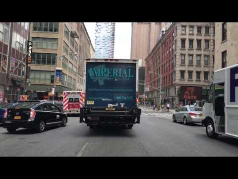 Driving Downtown Manhattan New York City NY USA