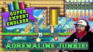 ADRENALINE JUNKIE! | Mario Maker 2 Super Expert No Skip Endless Challenge with Oshikorosu! [29]