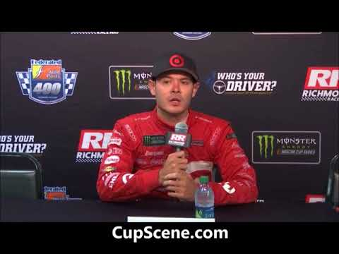 NASCAR at Richmond Raceway, Sept. 2017: Kyle Larson post race