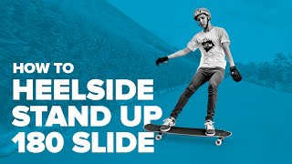 Как сделать хилсайд стэндап 180 слайд на лонгборде (Heelside stand up 180 slide on a longboard)